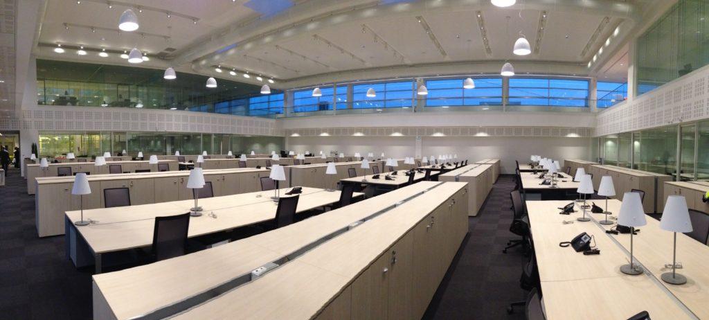 Photo de plafonds acoustiques, bureaux privés