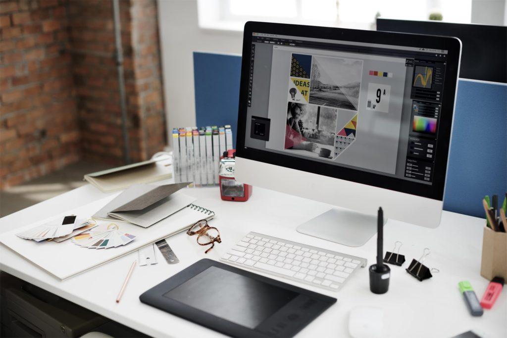 Photo du matériel utilisé par le studio graphique